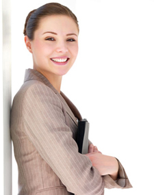 Woman smiling after filing bankruptcy